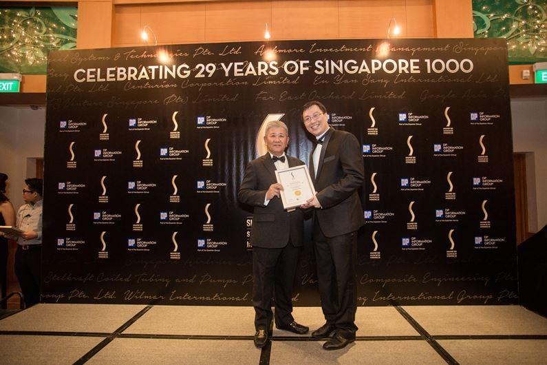 Singapore 1,000 Top Companies Award 2016